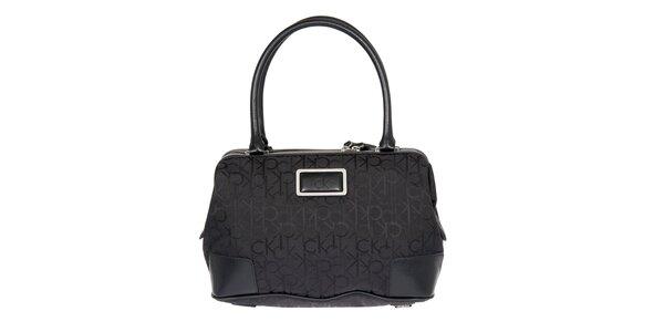 Dámska čierna kabelka s potlačou Calvin Klein