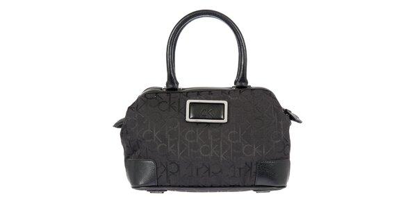 Dámska čierna potlačená kabelka Calvin Klein
