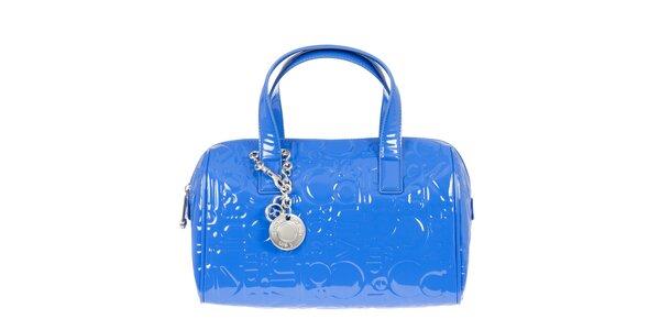 Dámska modrá lesklá kabelka Calvin Klein Jeans