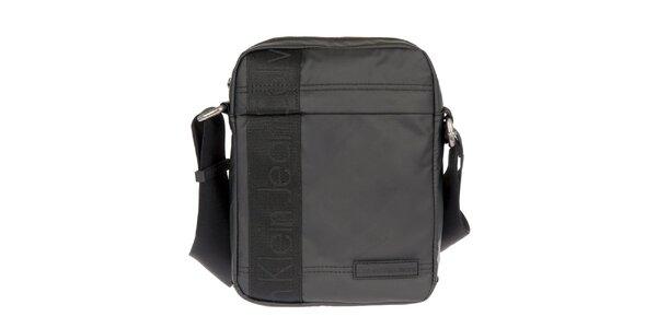 Pánska čierna taška cez rameno s vonkajším zipsovým vreckom Calvin Klein Jeans
