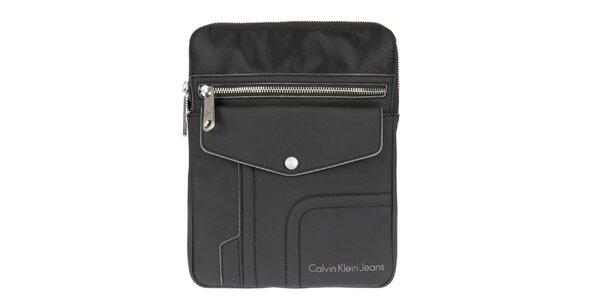 Pánska čierna taška cez rameno s nápaditým dizajnom Calvin Klein Jeans