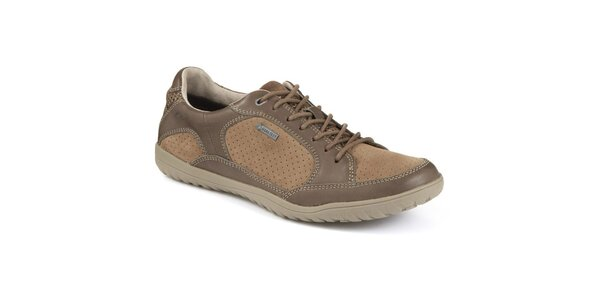 Pánske béžové semišové topánky s Gora-Tex úpravou Clarks