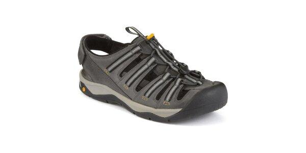 Pánske šedé sandále s uzavretou špičkou Clarks