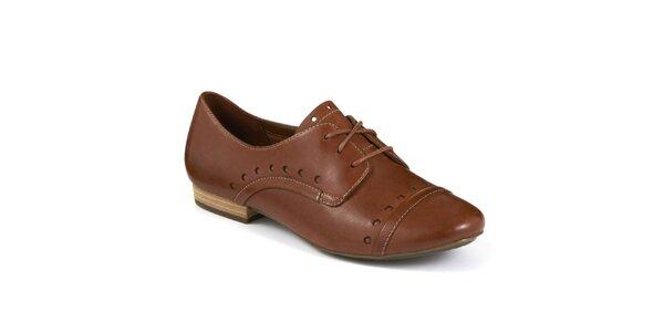 ... kvalitné kožené topánky z Anglicka. Táto kampaň už skončila. Dámske  hnedé oxfordky Clarks cd305f85138