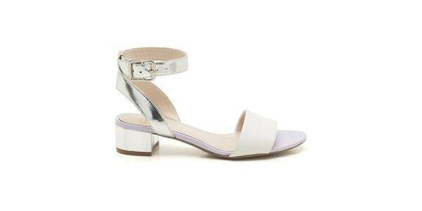 Dámske bielo-strieborné sandálky Clarks