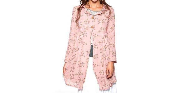 Dámsky ružový kvetovaný kabátik Ian Mosh