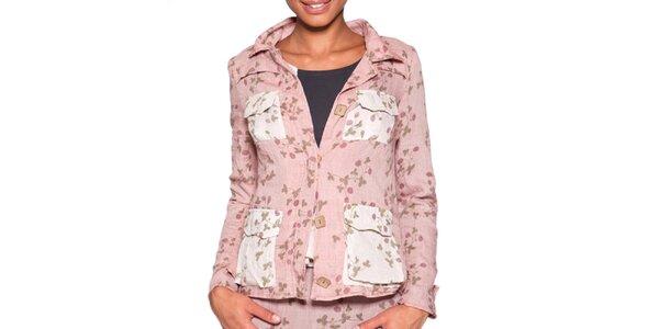 Dámske svetlo ružové sako s potlačou Ian Mosh