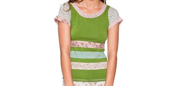 Dámske trávovo zelené tričko s krátkym rukávom Ian Mosh