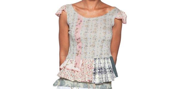Dámske šedo ružové tričko s krátkym rukávom Ian Mosh