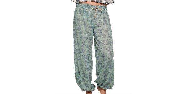 Dámske zelené vzorované nohavice Ian Mosh