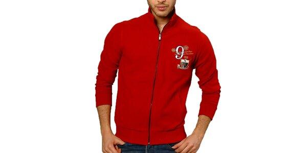 Pánsky červený sveter so zipsom Northern rebel