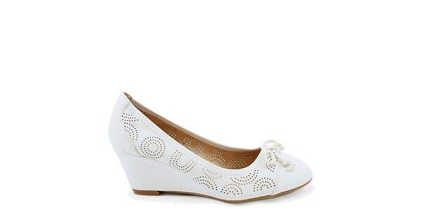 Dámske biele topánočky s perforáciou Colorful