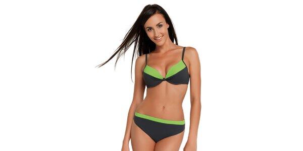 Dámske šedo-zelené dvojdielne plavky Gwinner