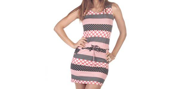 Dámske šaty s bodkovanými pruhmi Azura