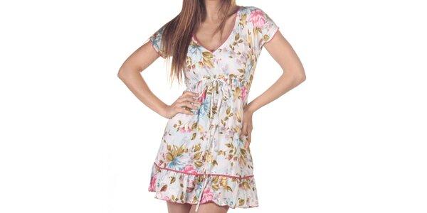 Dámske krátke šaty s farebnou potlačou Azura