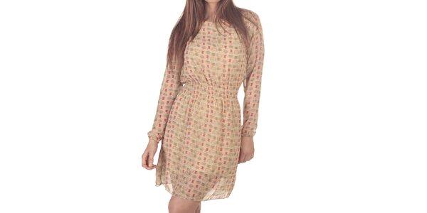 Dámske krátke šaty s potlačou sovičiek Azura