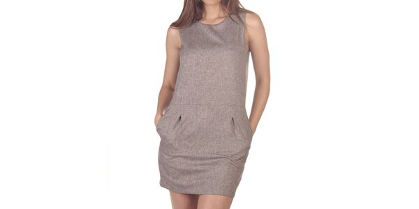 Dámske krátke šaty so zipsom na chrbte Azura