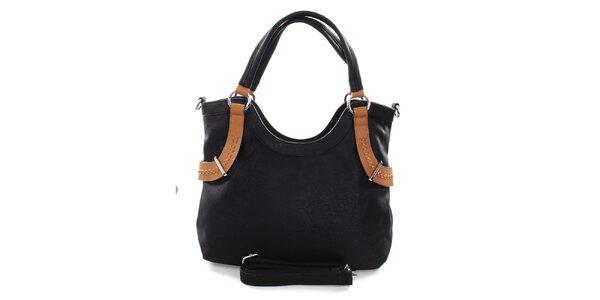 Dámska čierna kabelka s béžovými detailmi Castella & Beige