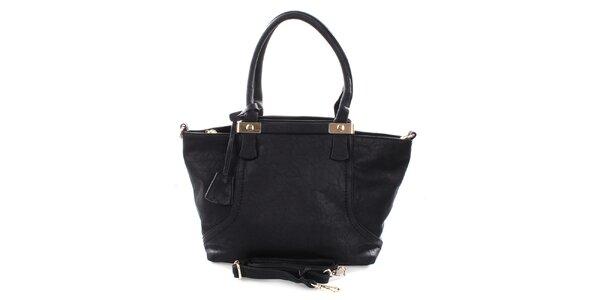 Dámska čierna kabelka Castella & Beige