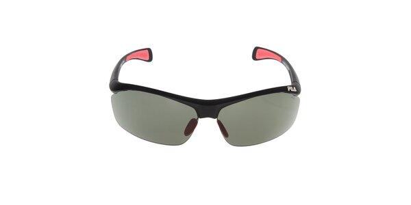 Čierne slnečné okuliare s farebnými prvkami Fila