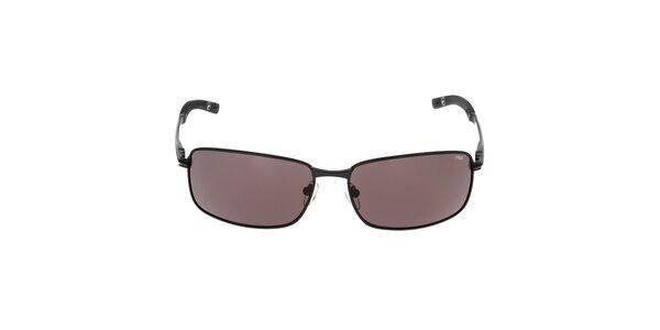 Pánske čierne slnečné okuliare s hnedými sklami Fila