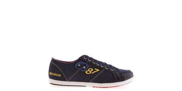 Pánske modré tenisky s číslom Jaguar