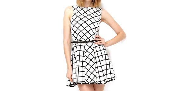 Dámske čierno-biele šaty Deck