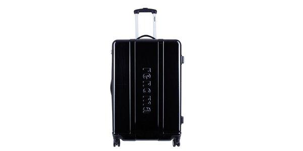 Menší čierny cestovný kufor Renoma