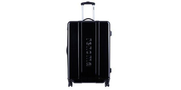 Väčší čierny cestovný kufor Renoma