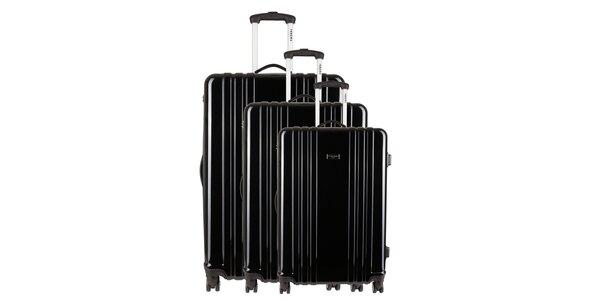 Sada troch čiernych kufrov Renoma