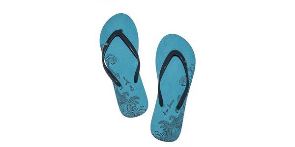 Dámske modré penové žabky Exe Jeans
