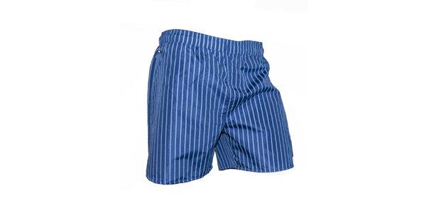 Pánske modré plavky s prúžkami Exe Jeans