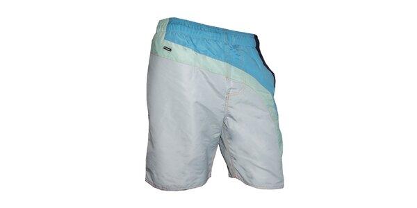 Pánske biele plavky s farebnými pruhmi Exe Jeans