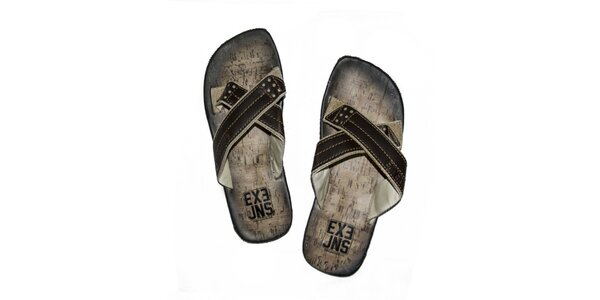 Pánske hnedé sandále Exe Jeans