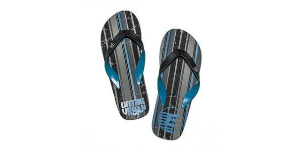 Pánske modro-čierne žabky Exe Jeans