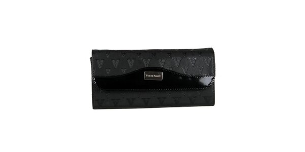 Dámska čierna listová kabelka Verde Porte