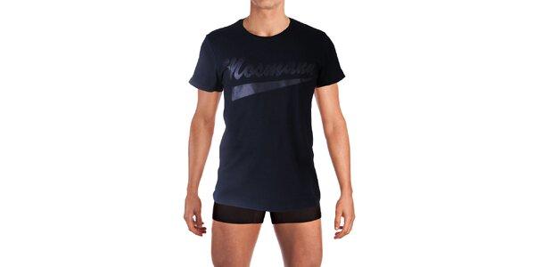 Pánske čierne tričko s potlačou Mosmann