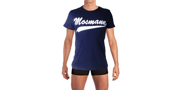 Pánske tmavo modré tričko s potlačou Mosmann
