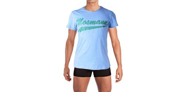 Pánske svetlo modré tričko s potlačou Mosmann