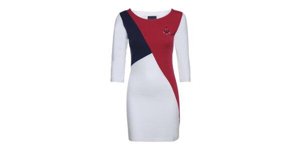 Dámske červeno-modro-biele šaty Giorgio di Mare