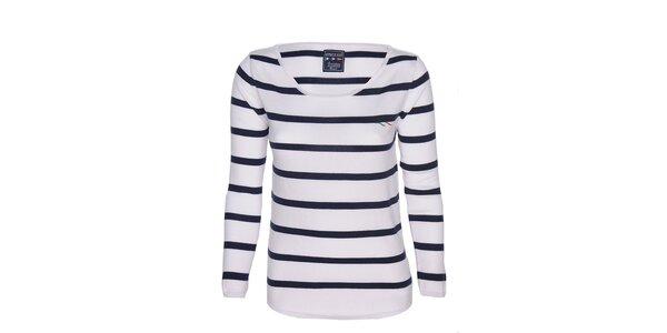 Dámske modro-biele pruhované tričko Giorgio di Mare