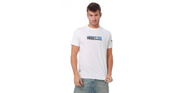 Pánske biele tričko Indian Face s potlačou