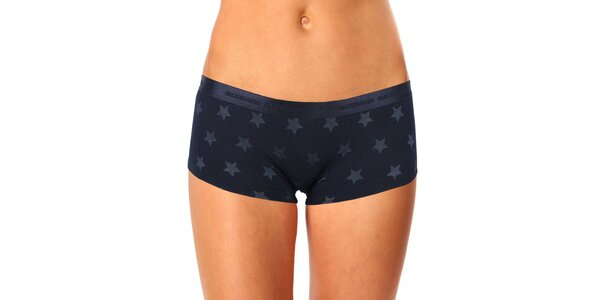 Dámske čierne hviezdičkové nohavičky s nohavičkou Mosmann