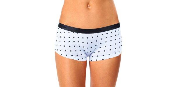 Dámske čierno-biele nohavičkové nohavičky s bodkami Mosmann
