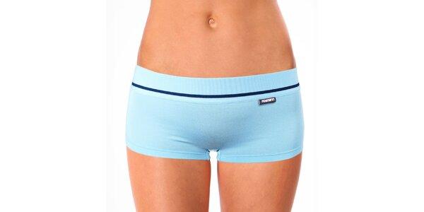 Dámske svetlo modré nohavičkové nohavičky Mosmann