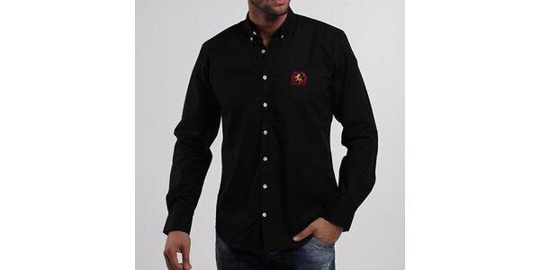 Pánska čierna košeľa Giorgio di Mare