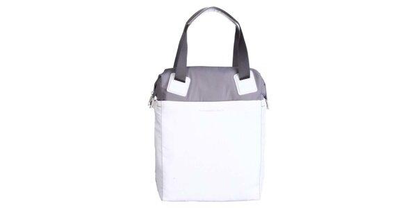 Dámska bielo-šedá obdĺžniková kabelka Mandarina Duck
