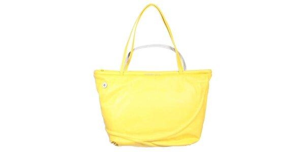 Dámska žltá kabelka so strieborným pútkom Mandarina Duck