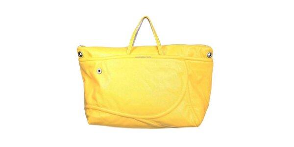 Dámska žlto-strieborná kabelka Mandarina Duck