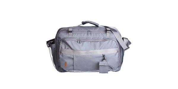 Šedá cestovná taška cez rameno Mandarina Duck
